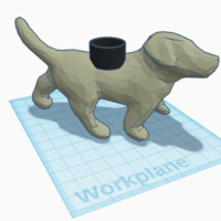 Small The Puppy Planter 3D Printing 216348