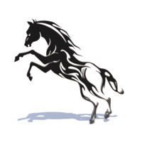 Small Horse wall art 3D Printing 216356