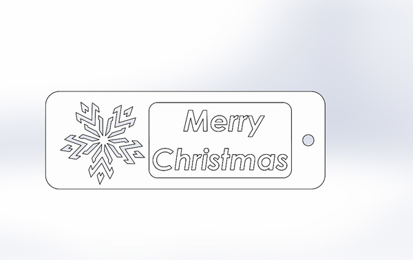 "Medium ""Merry Christmas""-Bookmarker 3D Printing 216427"