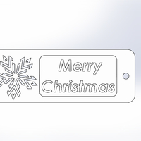 "Small ""Merry Christmas""-Bookmarker 3D Printing 216427"