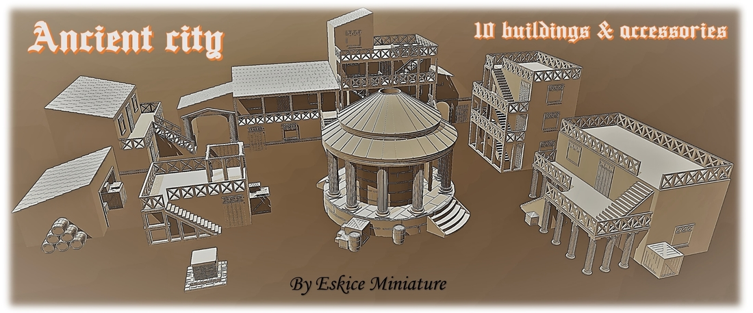 Ancient city for Wargame - Scenery pack 3D Print 216742