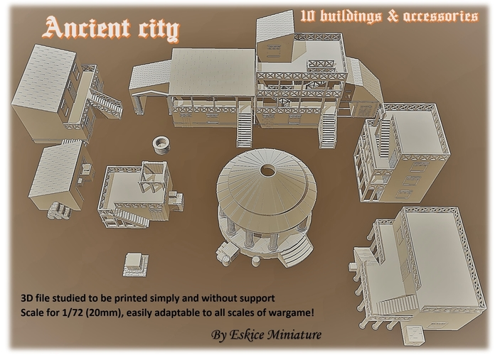 Ancient city for Wargame - Scenery pack 3D Print 216743