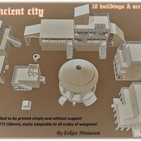Small Ancient city for Wargame - Scenery pack 3D Printing 216743