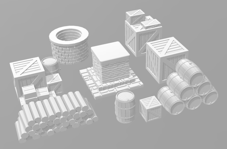 Ancient city for Wargame - Scenery pack 3D Print 216745