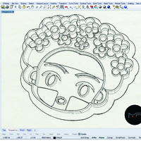 Small Frida Kahlo cookie cutter 3D Printing 216864