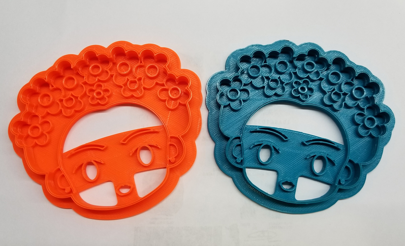 Frida Kahlo cookie cutter 3D Print 216866