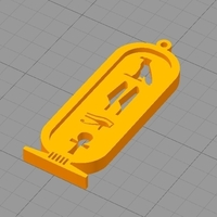 Small ANCIENT EGYPTIAN KEY CHAIN  3D Printing 216888