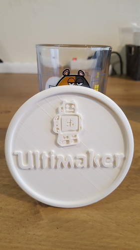 Coaster with Ultimaker logo 3D Print 217035