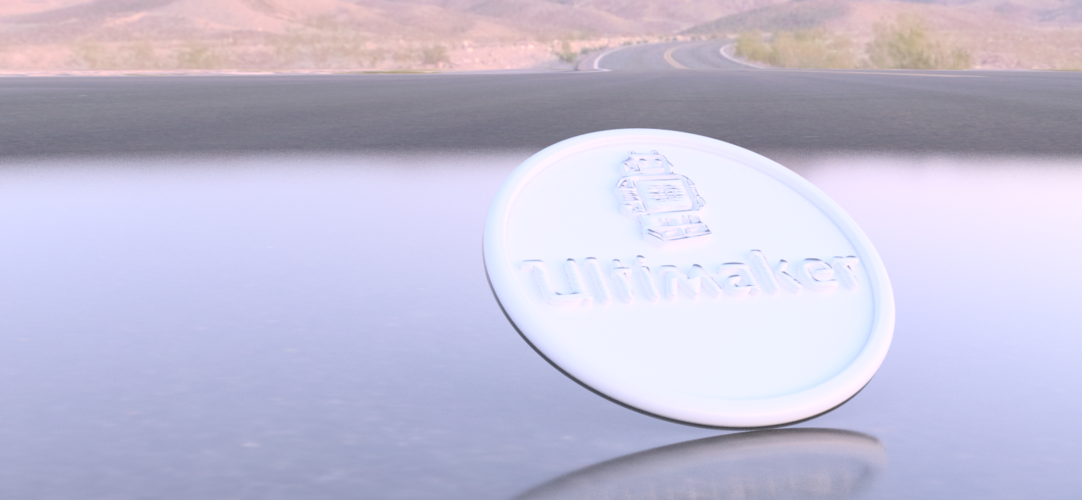 Coaster with Ultimaker logo 3D Print 217036