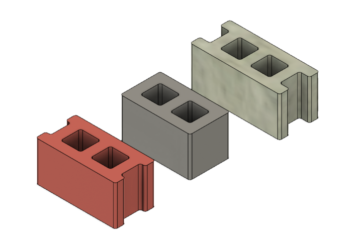 Free Mini Cinder Blocks 3D Print 217054