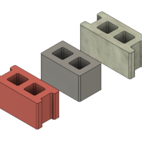 Small Free Mini Cinder Blocks 3D Printing 217054