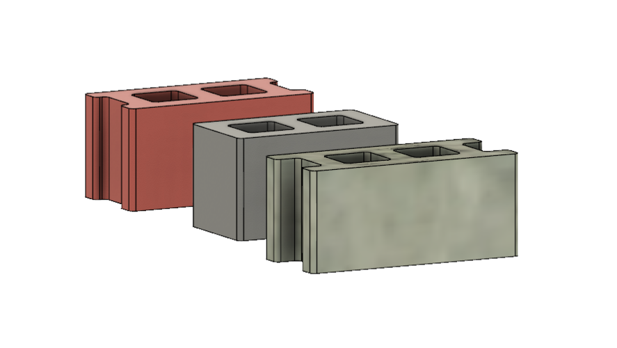 Free Mini Cinder Blocks 3D Print 217056