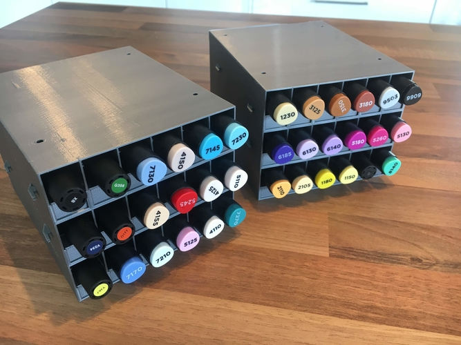 Art Pens Horizontal Stand Organizer for Graph'it and Promarker 3D Print 217084