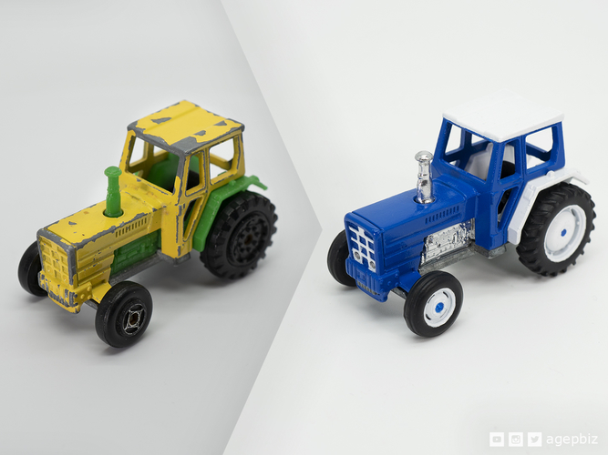 Detailed Tractor Wheels - Diecast Toy Restoration 3D Print 217246
