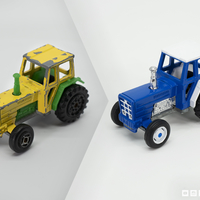 Small Detailed Tractor Wheels - Diecast Toy Restoration 3D Printing 217246