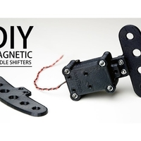 Small DIY Magnetic Shift Paddles 3D Printing 217261