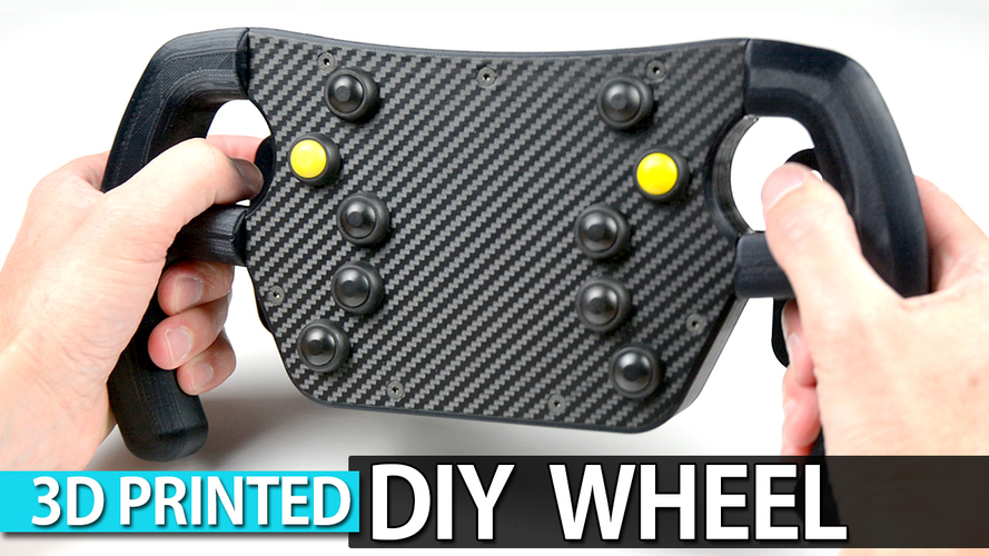 DIY 3D Printed F1 GT Wheel with Magnetic Shift Paddles 3D Print 217282