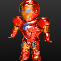 Small Iron man SD 3D Printing 217330