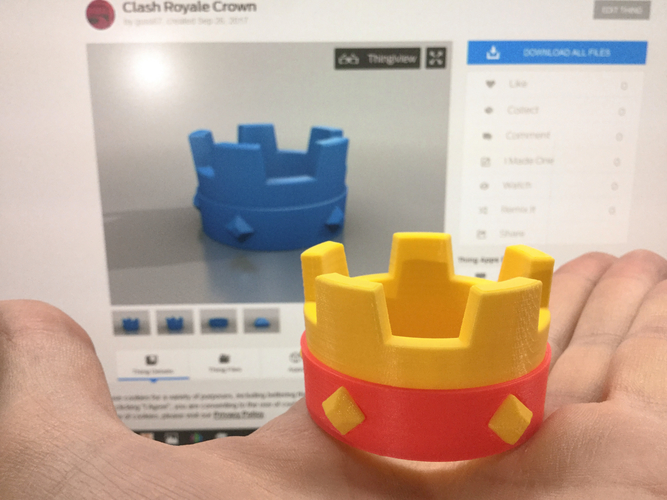 Crown | Clash Royale  3D Print 217348