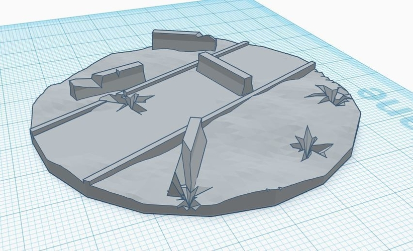 70mm diameter walker base 3D Print 217405