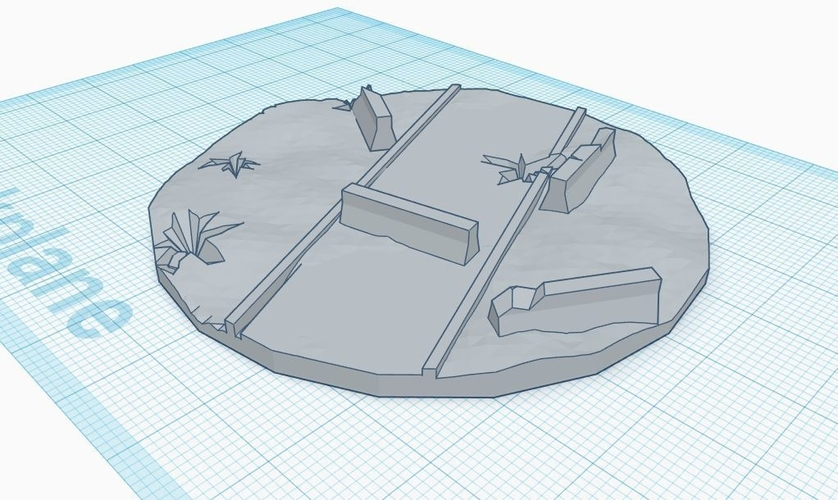 70mm diameter walker base 3D Print 217406