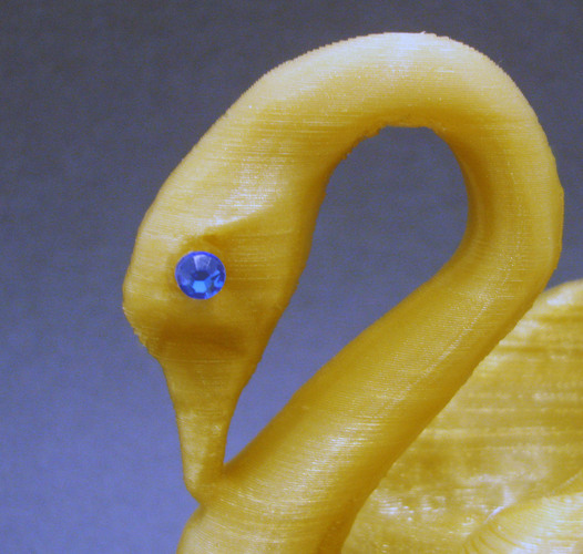 Odile The Swan (with fitting for crystal eye) 3D Print 21742