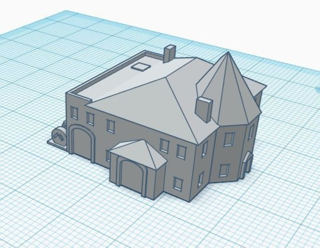 3mm Scale Residential Buildings 3D Print 217421