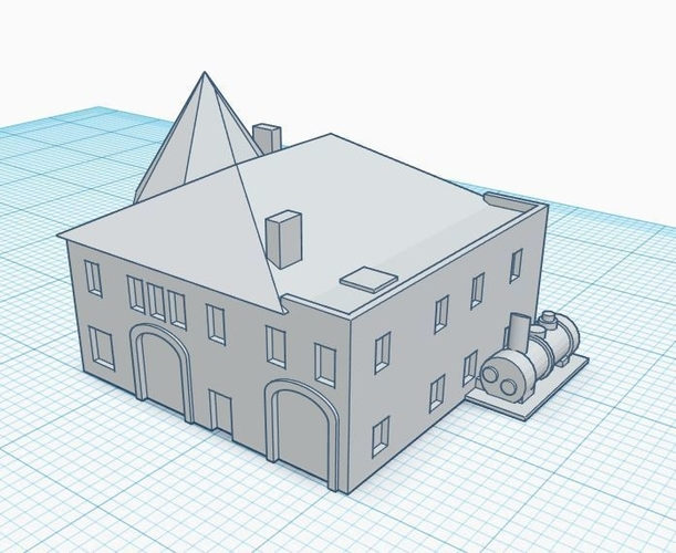 3mm Scale Residential Buildings 3D Print 217422