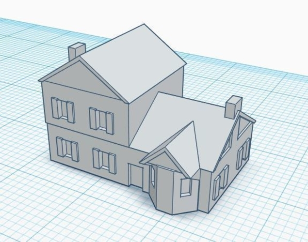 3mm Scale Residential Buildings 3D Print 217423