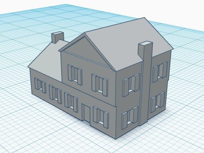 3mm Scale Residential Buildings 3D Print 217424