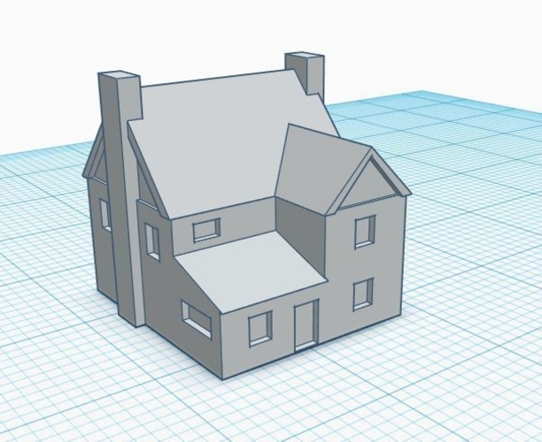 3mm Scale Residential Buildings 3D Print 217426
