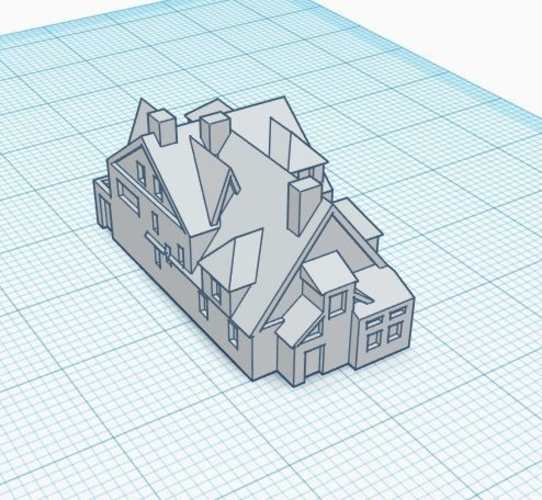 3mm Scale Residential Buildings 3D Print 217430