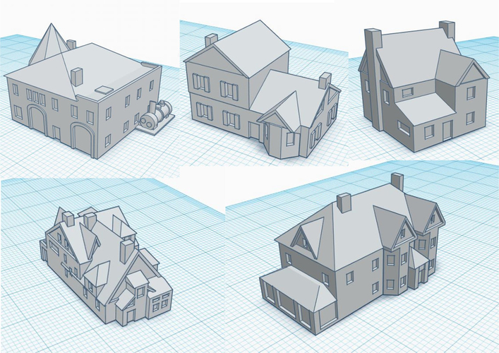 3mm Scale Residential Buildings 3D Print 217431
