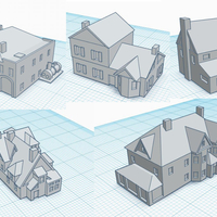 Small 3mm Scale Residential Buildings 3D Printing 217431
