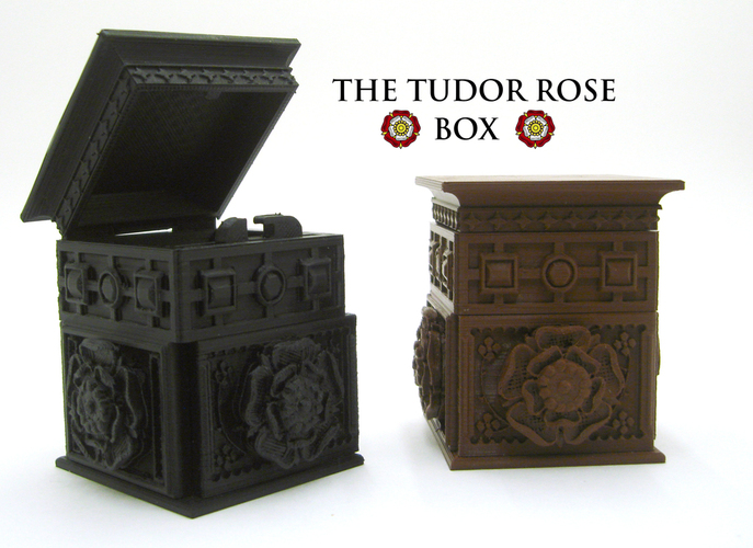 The Tudor Rose Box (with secret lock) 3D Print 21750