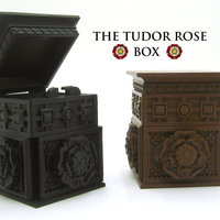 Small The Tudor Rose Box (with secret lock) 3D Printing 21750