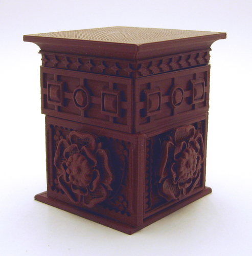 The Tudor Rose Box (with secret lock) 3D Print 21751