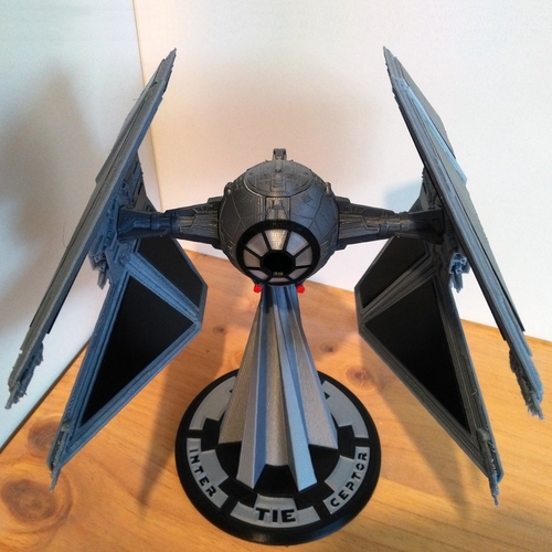 STAR WARS TIE INTERCEPTOR – Detailed & Printable 3D Print 217529