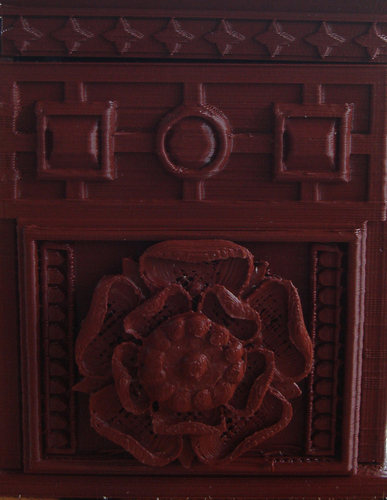 The Tudor Rose Box (with secret lock) 3D Print 21753
