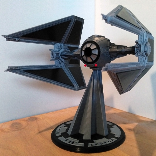 STAR WARS TIE INTERCEPTOR – Detailed & Printable 3D Print 217530