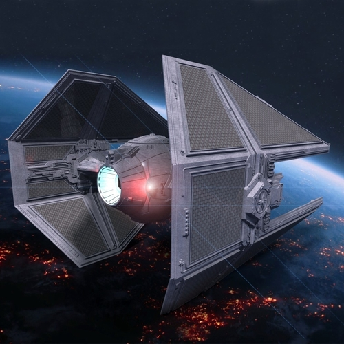 STAR WARS TIE INTERCEPTOR – Detailed & Printable 3D Print 217532