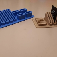 Small SD card stand 3D Printing 217571