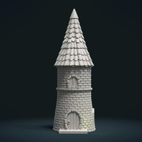 Small Fantasy Tower House 3D Printing 217574