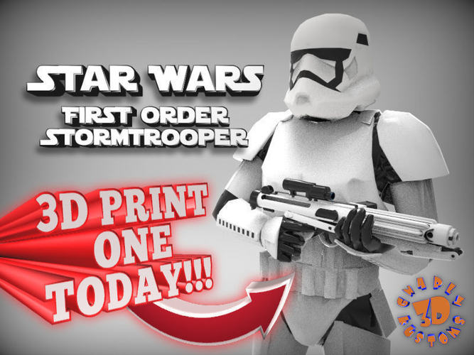 First Order Stormtrooper - Star Wars 3D Print 217708