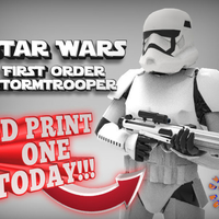 Small First Order Stormtrooper - Star Wars 3D Printing 217708
