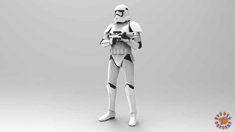 First Order Stormtrooper - Star Wars 3D Print 217709