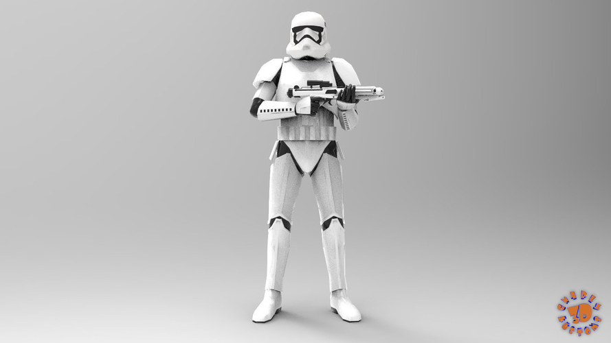 First Order Stormtrooper - Star Wars 3D Print 217710
