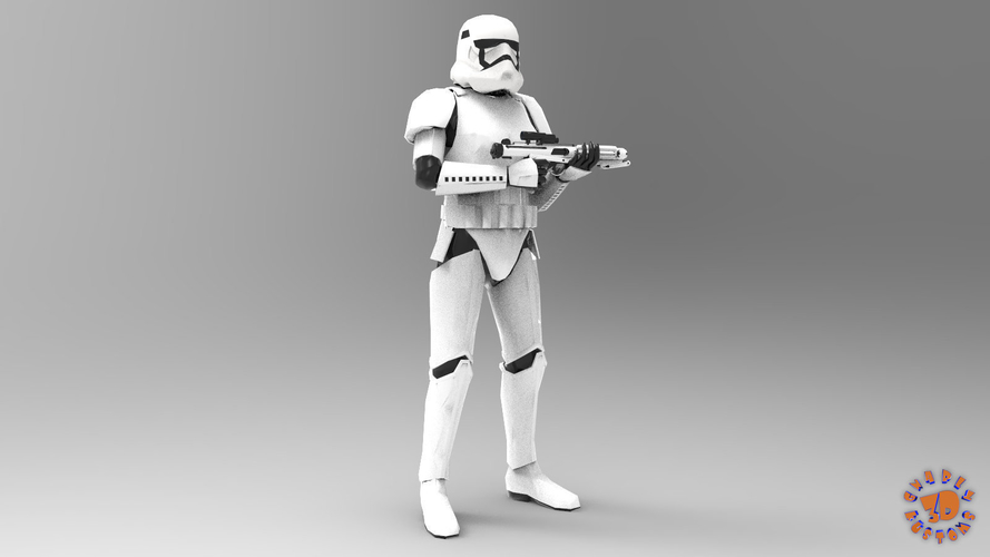 First Order Stormtrooper - Star Wars 3D Print 217711