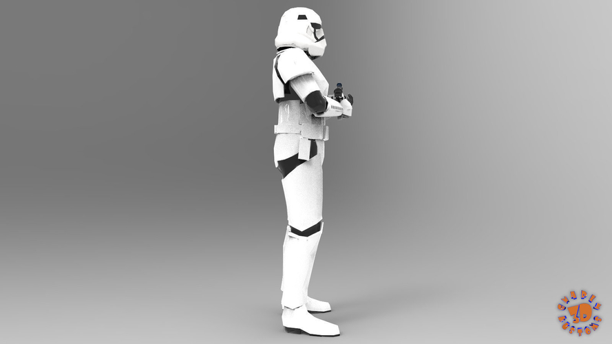 First Order Stormtrooper - Star Wars 3D Print 217712