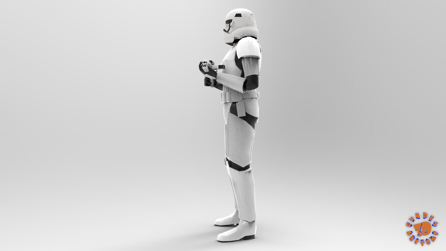 First Order Stormtrooper - Star Wars 3D Print 217713